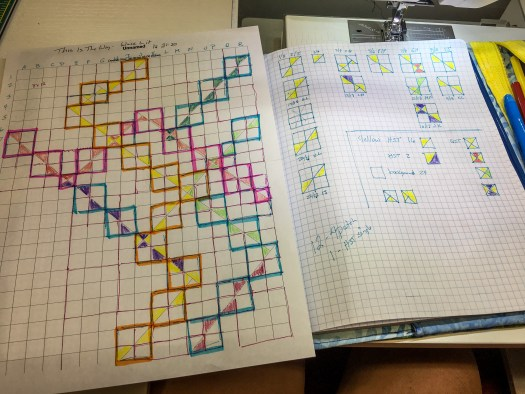 Paper never forgets, making a piecing map for my modern quilt