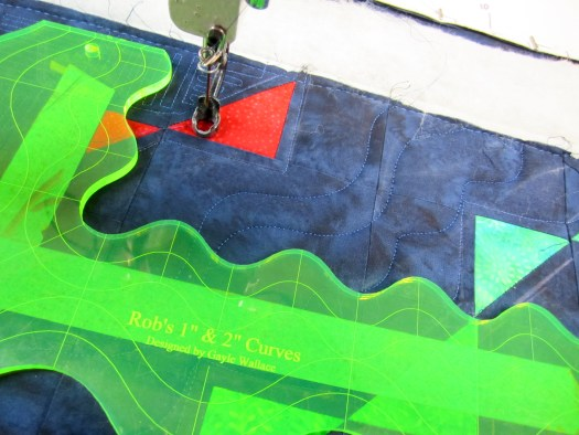 Marking curves for Modern Quilting