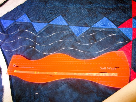soft wave ruler is nice to use in Modern Quilting