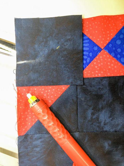 Marking a partial seam