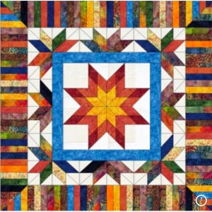 stunning scrappy quilt made with precuts, purchase from Karen Overton, The Quilt Rambler