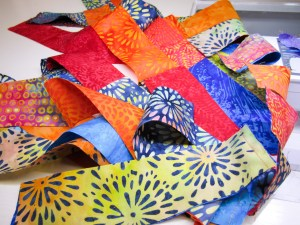 Sewing Scraps together for binding