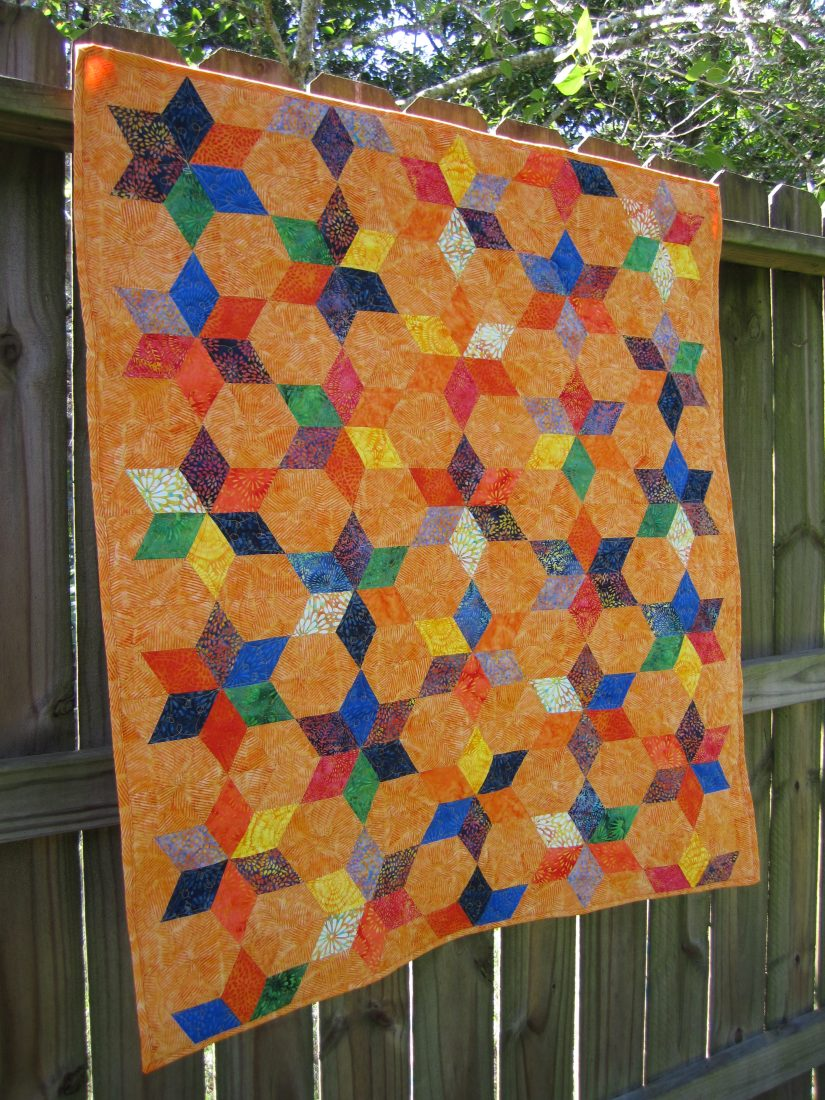 Island Batik fabrics make a great baby quilt using the pattern Sprinkles