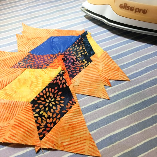 Joining two units to make a baby quilt