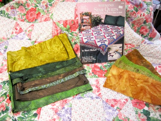 Quilt AS You Go Book and fabrics