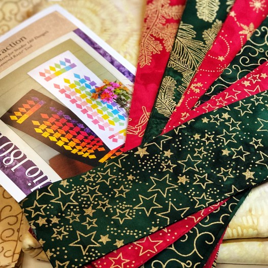 """Christmas Island Batik 2.5"""" strips will be perfect for the Refraction table runner from Studio 180 Design"""