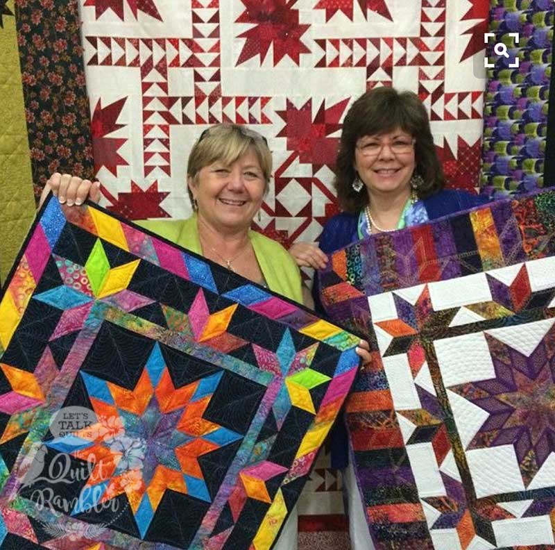 The original Illuminated Journey quilts by Karen Overton, The Quilt Rambler