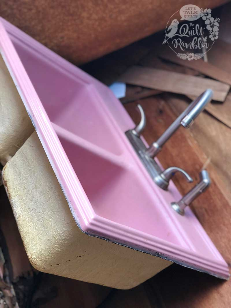 Hurricane Harvey ruined this pretty in pink sink