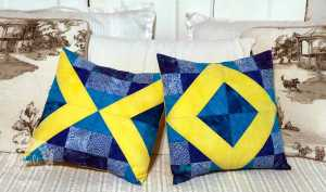 Summer Lovin X and O pillows