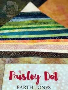 Paisley Dot Earth Tones by Island Batik