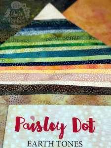 Paisley Dot Earth Tones by Island Batik