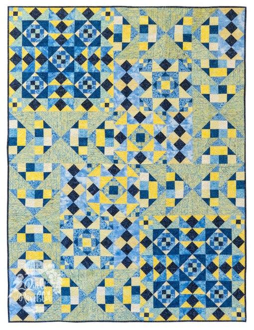 Paradise Island in Island Batik's French Blue fabrics