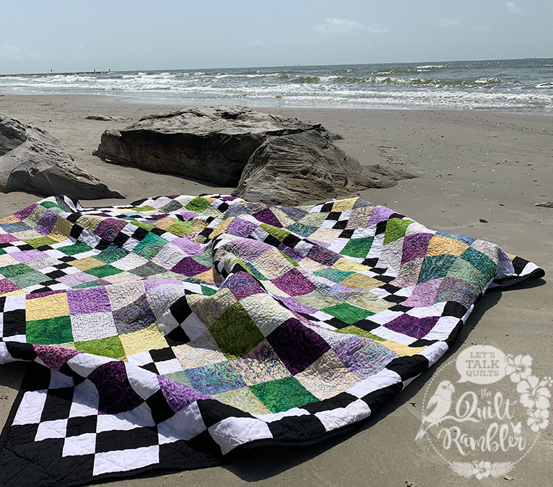 Checking The Boxes Quilt on the Beach