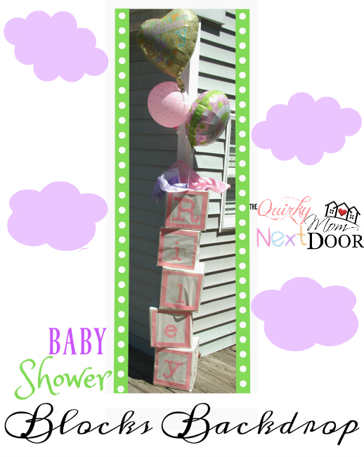 baby shower blocks backdrop