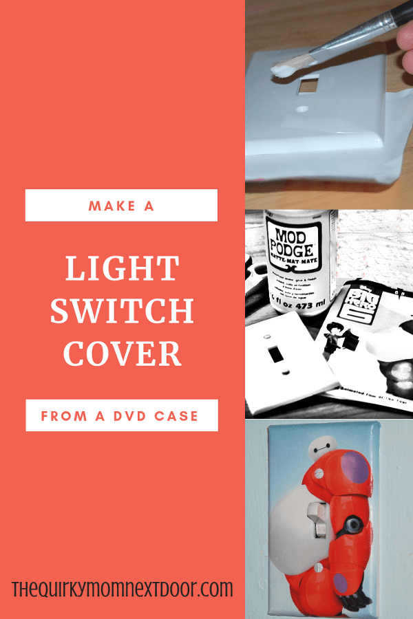 Diy Light Switch Plate Cover From A Dvd Cover The Quirky Mom Next Door