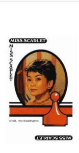 """Miss Scarlet Nowadays??  Oh No!  Looks like my Mother got to Miss Scarlet and chopped her hair off.  Because she thinks """"Women over 40 must have short hair.""""  What do you think??"""