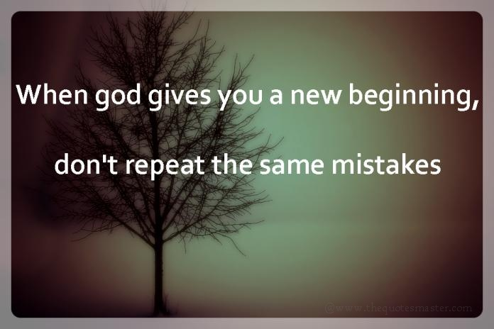 Dont repeat the same mistakes