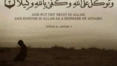 trust in allah -tawakkul in islam