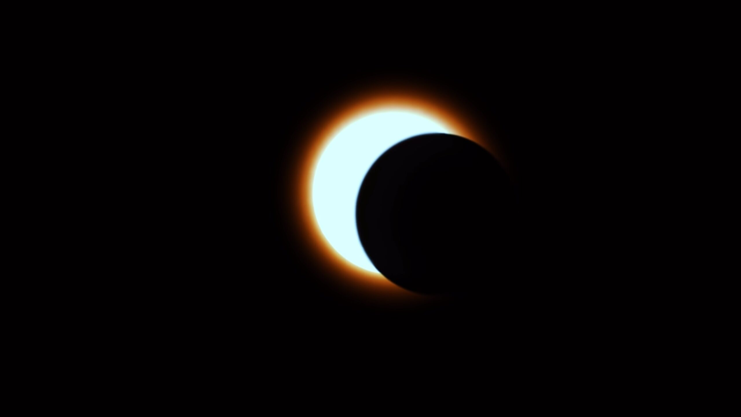 The moon eclipses the sun