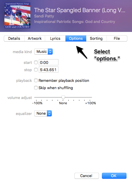How to Change Start or Ending Time of Song in iTunes 2