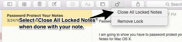 How to Password Protect Notes on Mac OS X 4
