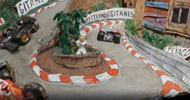 monaco, a clay sculpture by craig booth for car-toons