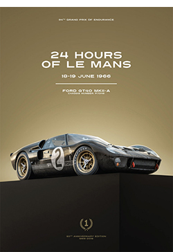lemans 1966 art poster from the lemans museum