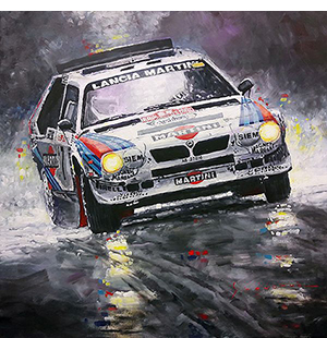 1986 Rallye Monte-Carlo Lancia Delta S4 Martini Toivonen Cresto winner motorsport art by Yuriy Shevchuk