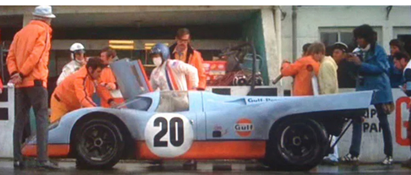 lemans movie scene gulf racing models in 1:43 scale