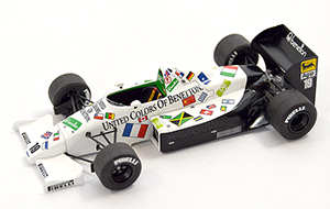 toleman tg185 benetton, more art car models in 1:43 scale