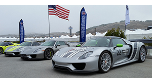 Porsche 918 group at the Porsche Rennsport Reunion VI