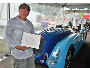 Bugatti Tank motorsport art by Paul Chenard
