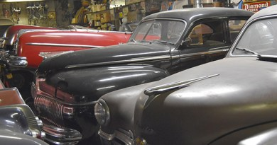 part of the collection in Lenny's Garage