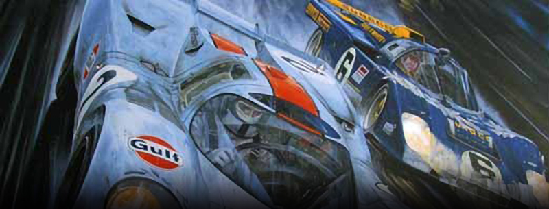 daytona 1971 motorsport art by roger warrick