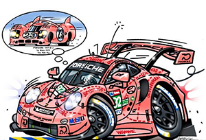 porsche 911 rsr motorsport art by roger warrick