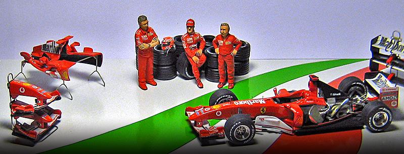 2004 Ferrari dream team by racing dioramics