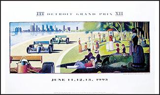 1993 detroit grand prix poster 1993