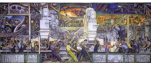 dia diego rivera mural north wall