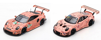 two porsche pink pigs from spark in 1/43