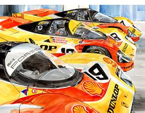 porsche 962s motorsport art by steve petrosky