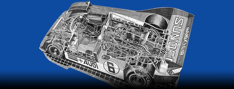 porsche 917-30 motorsport art by Shin Yoshikawa