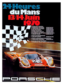 por 917 at lemans porsche racing posters