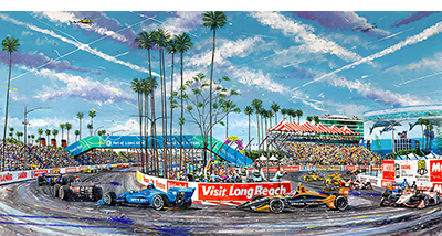 Long Beach 2019 motorsport art by randy owens