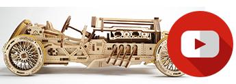 grandprix car mechanical models from UGears