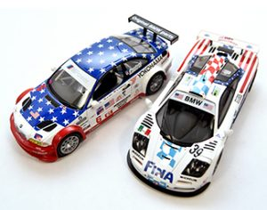 Red, white & blue 1/43 models tsm mclaren and ixo bmw