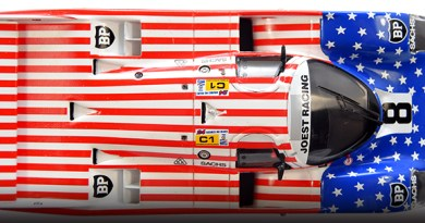 Red, white & blue 1/43 models joest porsche 962
