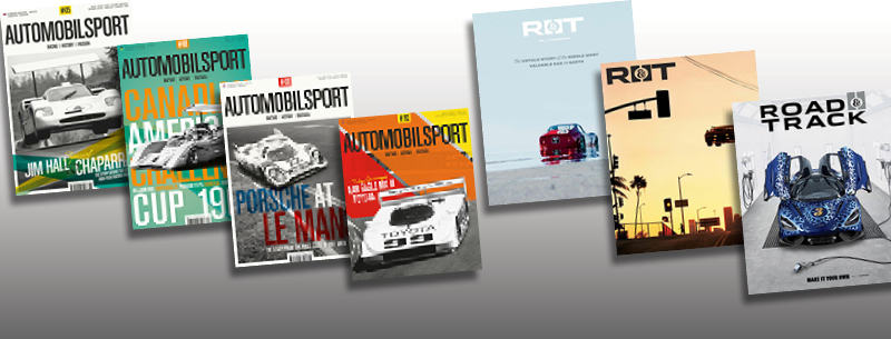 automobilsport and road & track magazines