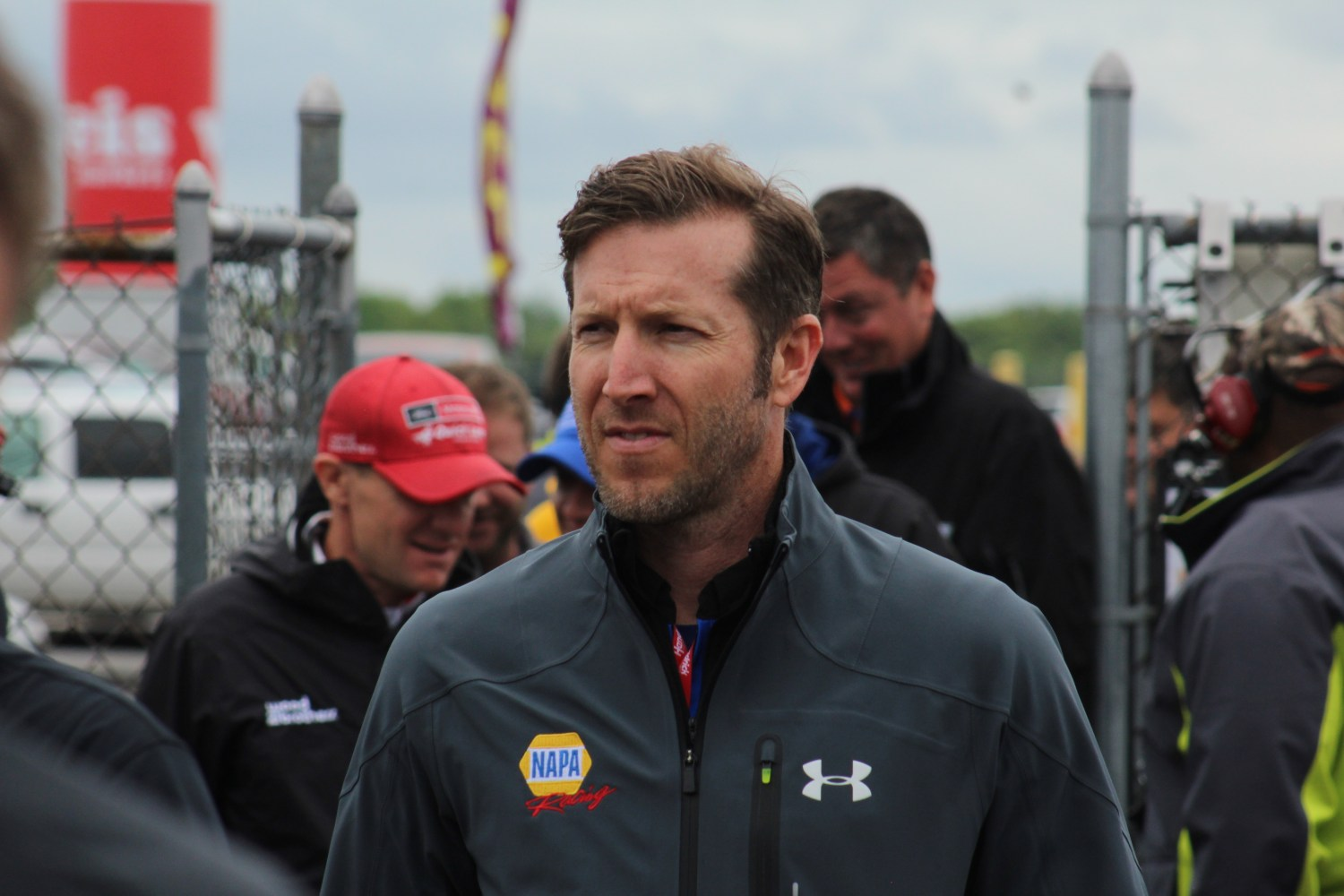 Alan Gustafson leaves the drivers meeting for the 2018 Pocono 400. (Tyler Head | The Racing Experts)