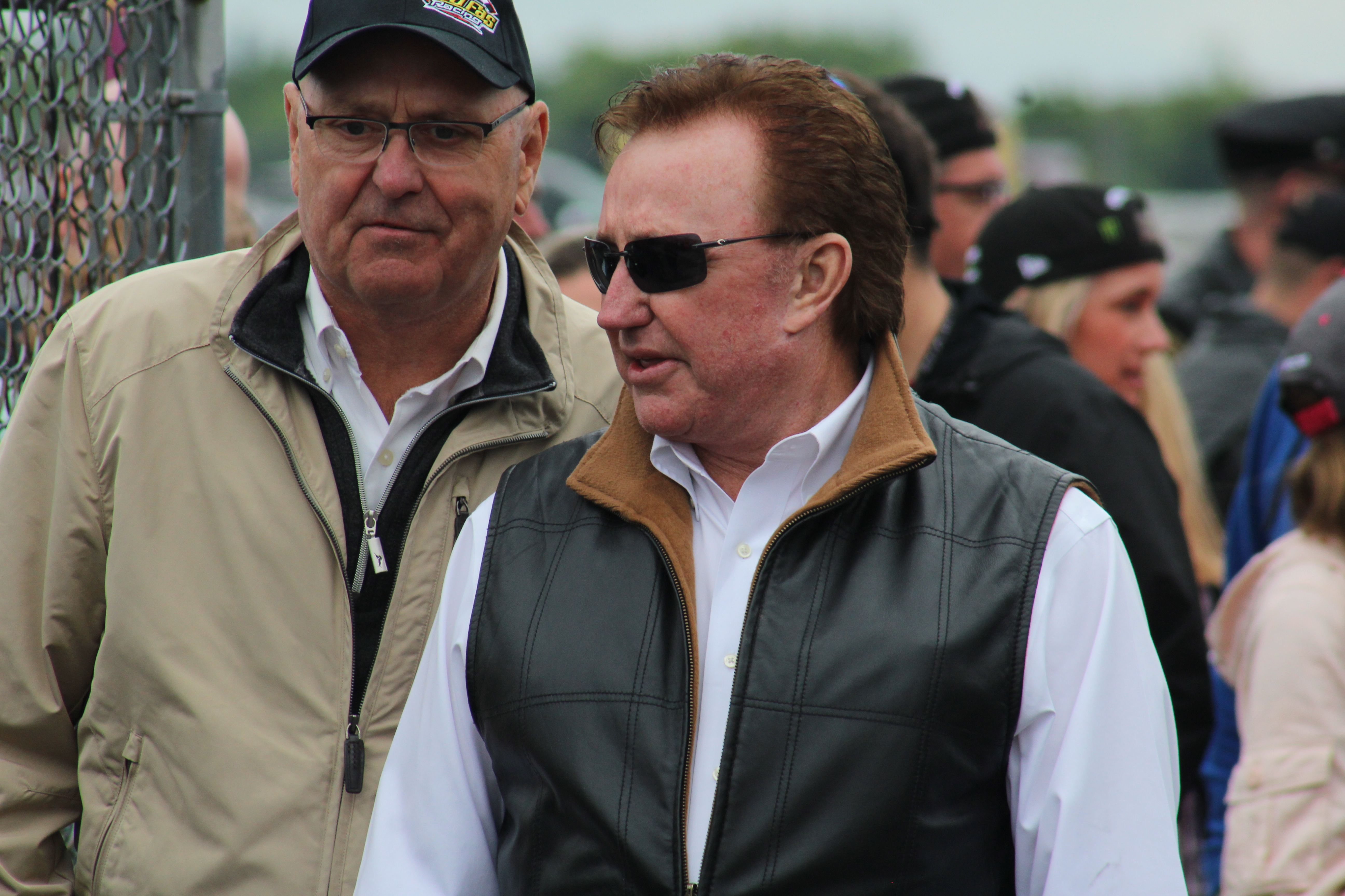 Richard Childress leaves the drivers meeting for the 2018 Pocono 400. (Tyler Head | The Racing Experts)
