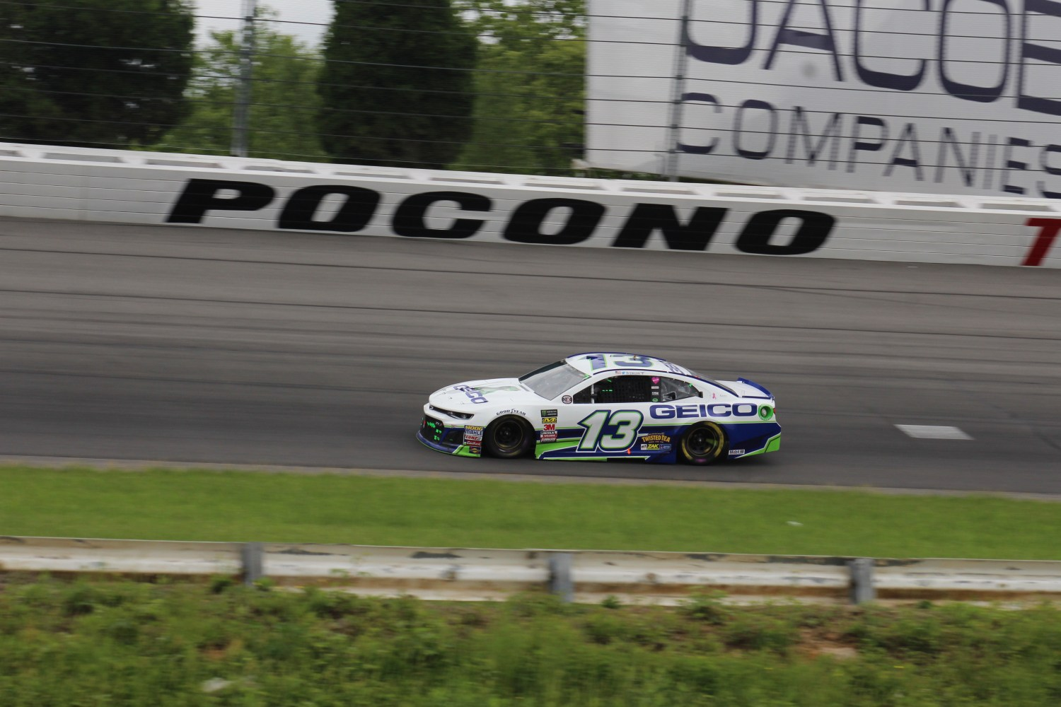Ty Dillon races during the 2018 Pocono 400. (Tyler Head | The Racing Experts)
